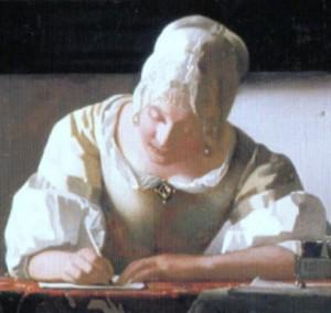 手紙を書く占い師
