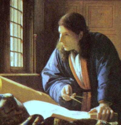 占星術師、あるいは占い師 天文学者 フェルメール画