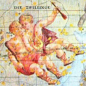 占星術で示される双子座の星座図
