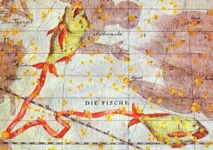 占星術で示される魚座の星座図