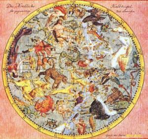 J・E・ホーデの古星図 北天全図