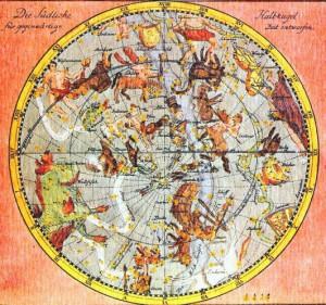 J・E・ホーデの古星図 南天全図