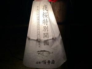 縮景園の灯り