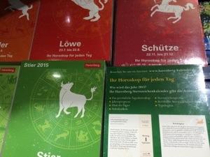 ドイツの星座別の占いがついた日めくりカレンダー