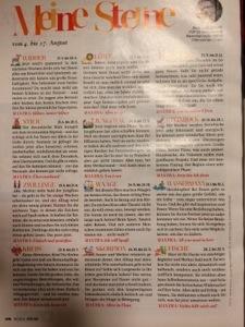 FUR ZIE誌の星占いのページ