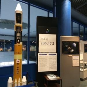 宇宙ロケット はやぶさ2の模型