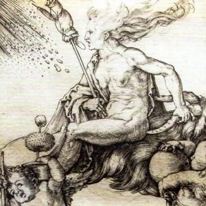 デユーラーの描く、空飛ぶ魔女