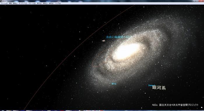 mitakaで見た銀河系