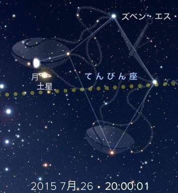 月と土星が蠍座でコンジャンクション