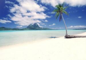 夏休み、海のそばの風景