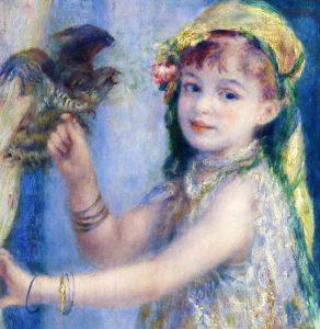鳥と少女 ルノアール画