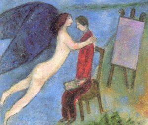「インスピレーション」シャガール画