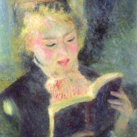 読書する少女 ルノワール画