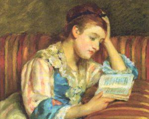 本を読む女占い師