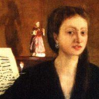 ピアノの前のカミュ婦人 ドガ画